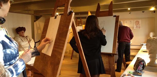 Activiteiten in Rembrandts leerlingenatelier Rembrandthuis Amsterdam