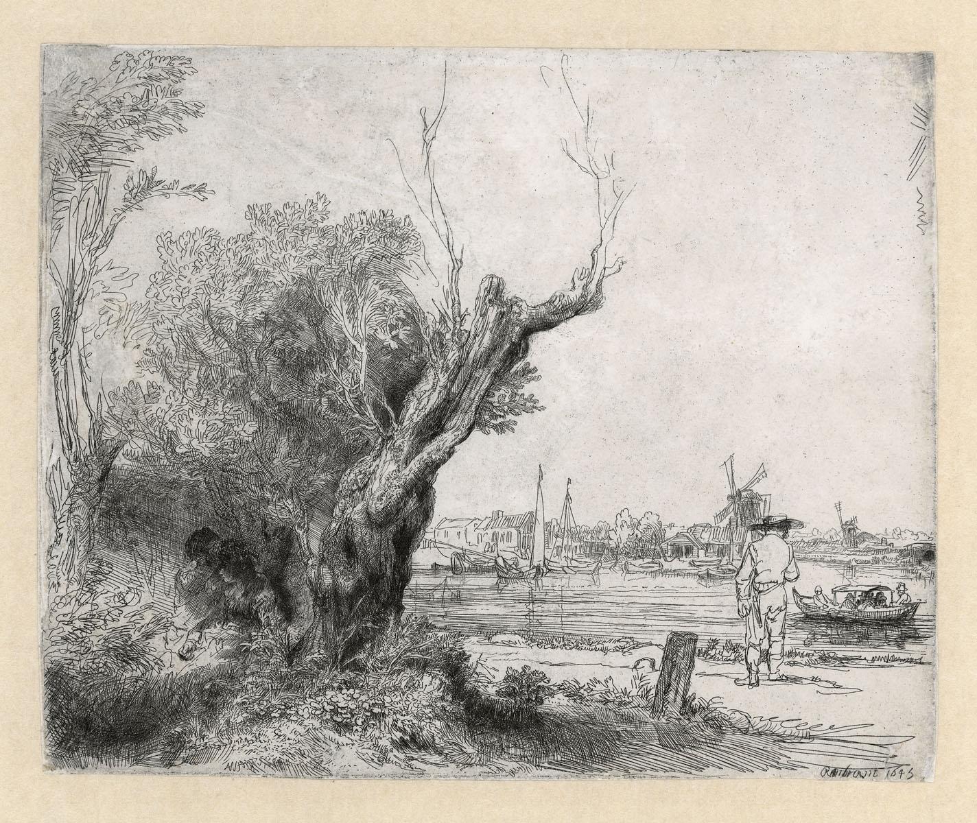 Paysage de Rembrandt au musée Rembrandt à Amsterdam.