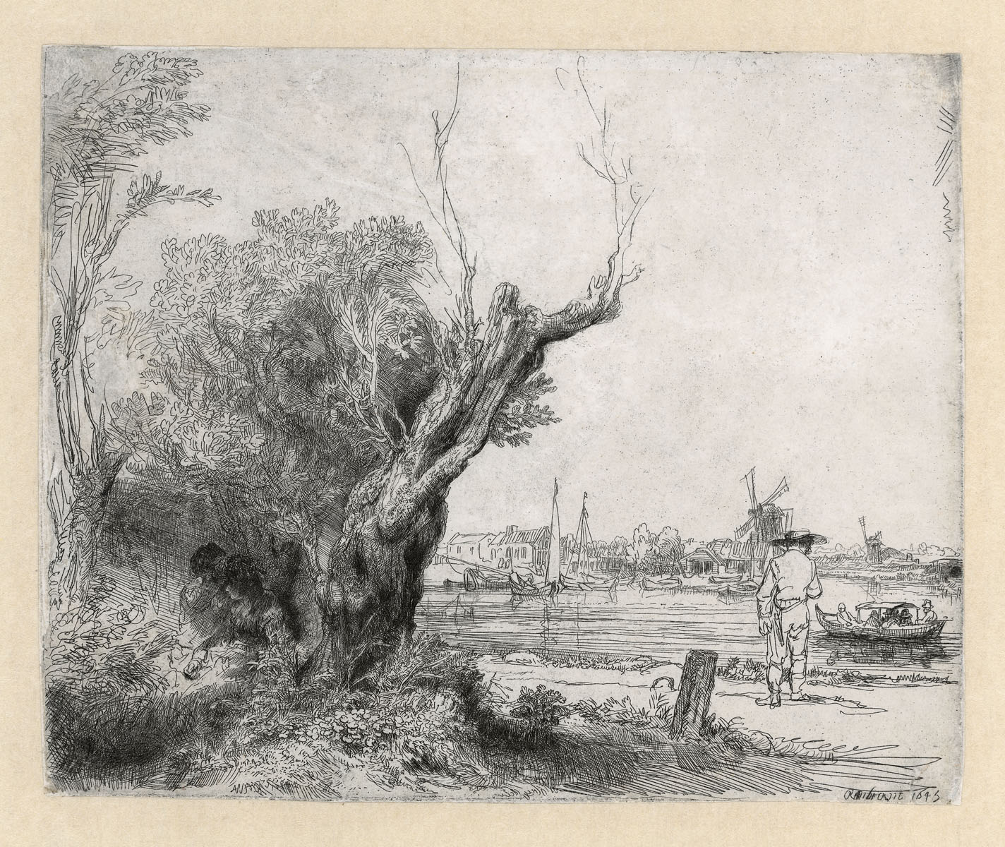 De Omval Rembrandt ets Rembrandthuis Amsterdam
