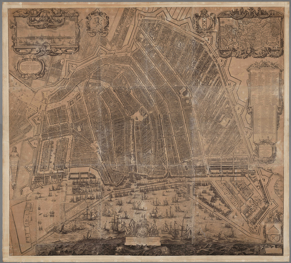 Balthasar Florisz., Map of Amsterdam, 1625