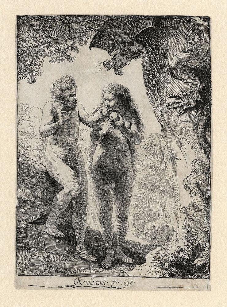Rembrandt Adam Eve