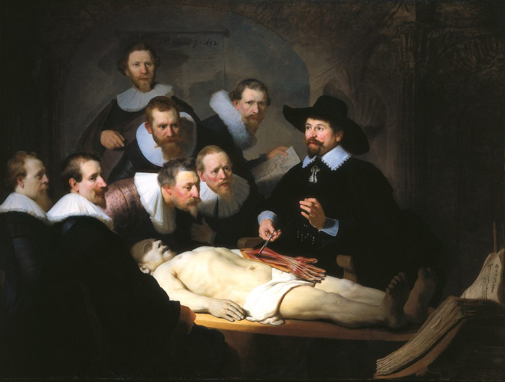 The Anatomy Lesson of Dr. Nicolaes Tulp - most famous painting