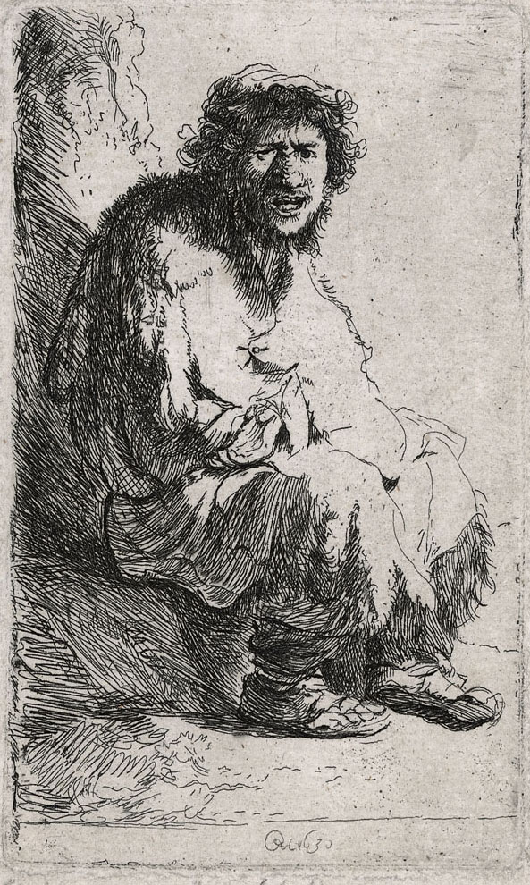 Rembrandt Beggar Seated