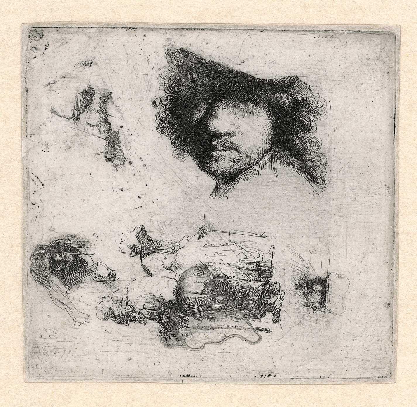 Rembrandt schetsblad (week 49)