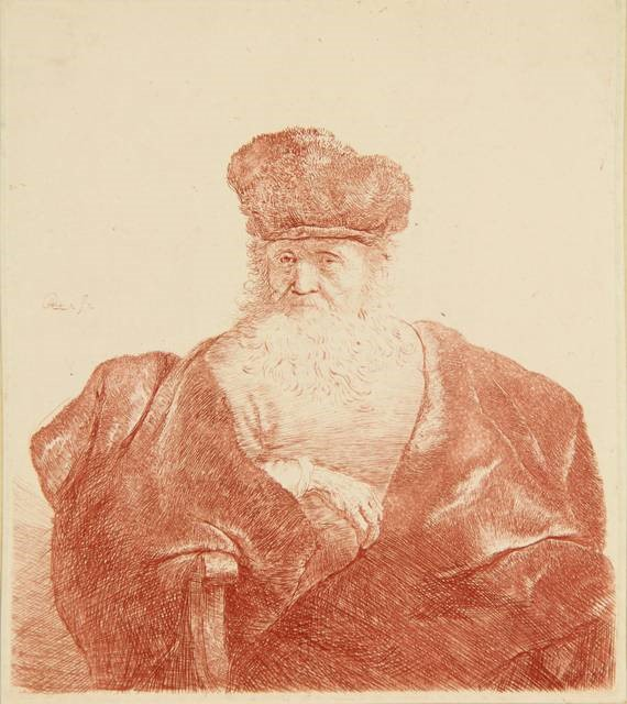 Oude-man-met-oude-man-met-baard-Rembrandt