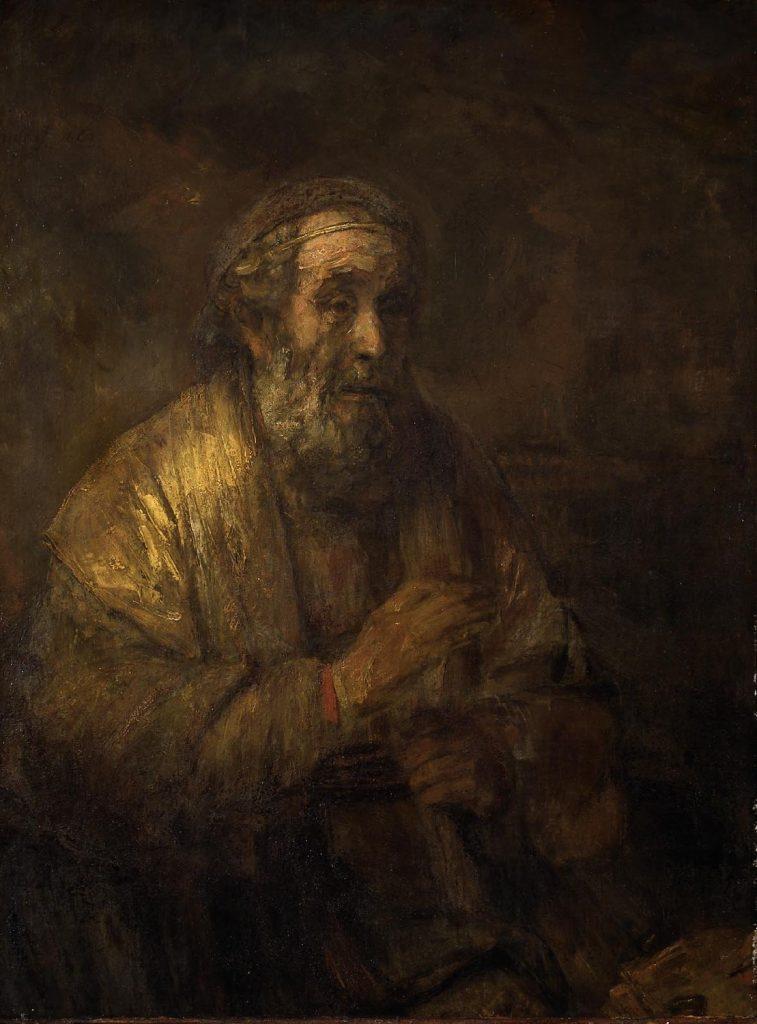 Rembrandt, Homerus, 1663 (Mauritshuis, Den Haag)