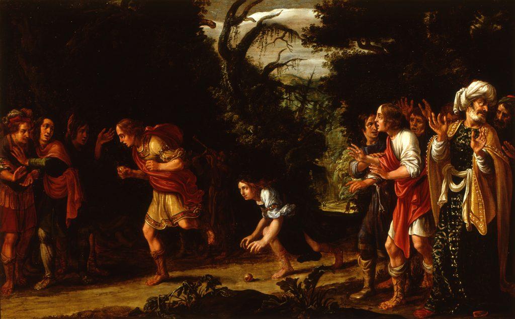 Jan Tengnagel, De wedstrijd tussen Hippomenes en Atalanta, 1610. Museum Het Rembrandthuis, Amsterdam (bruikleen Amsterdam Museum)