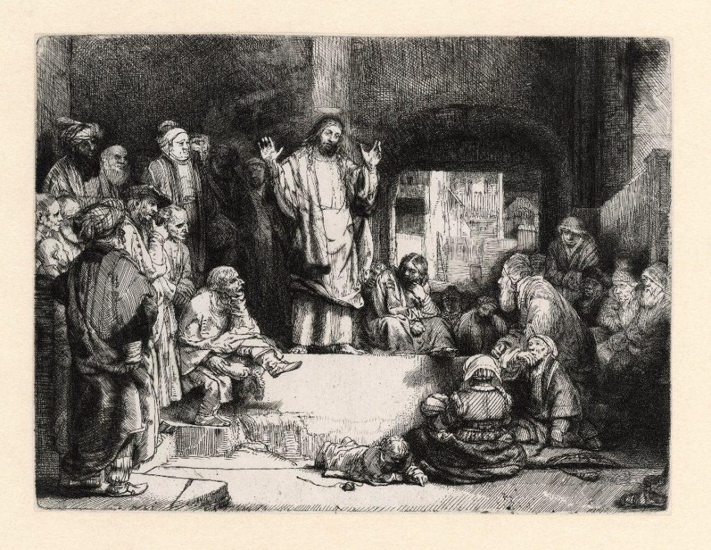 Rembrandt, Christ preaching ('La petite tombe'), c. 1657