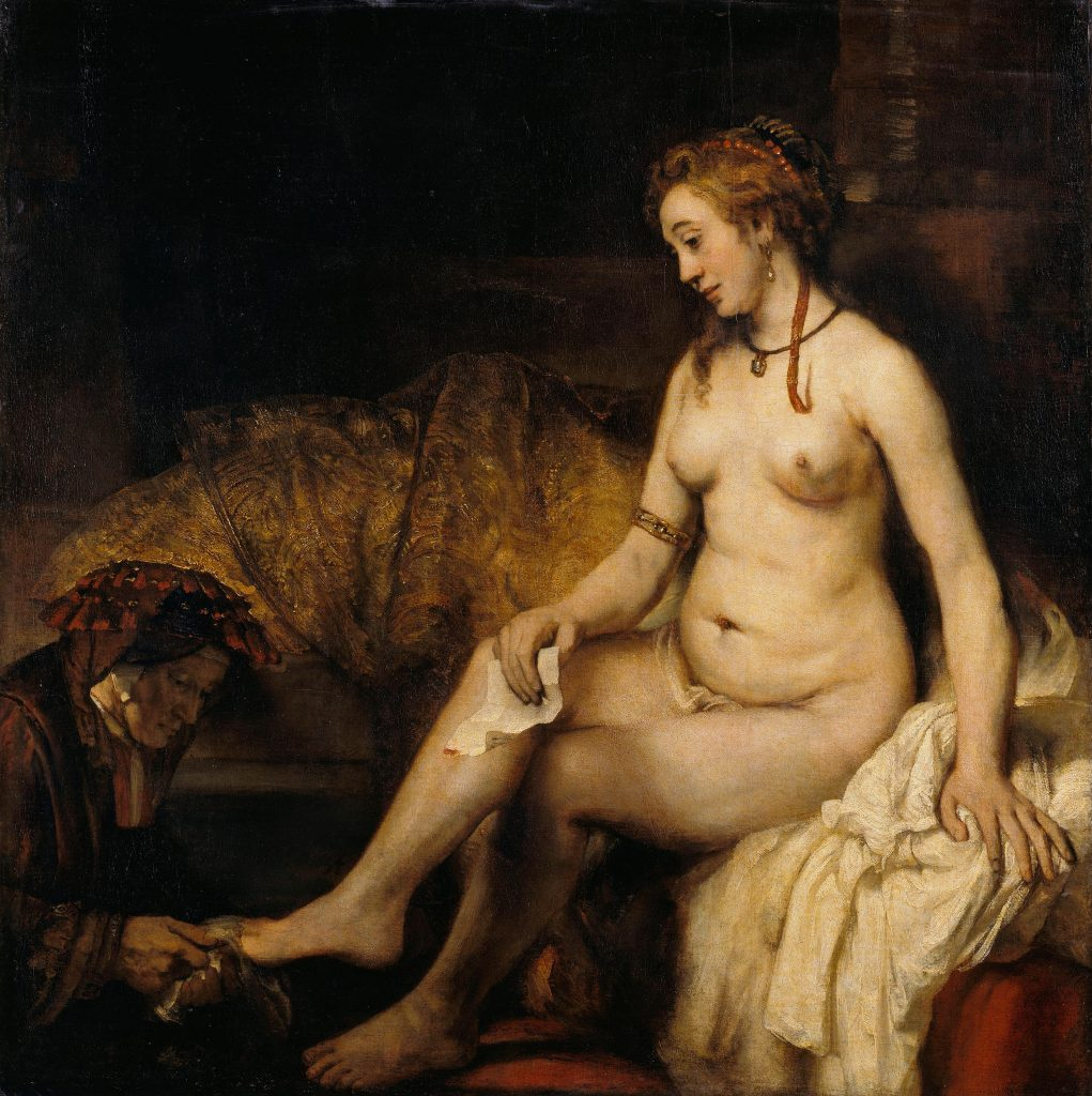 Rembrandt, Batseba met de brief van koning David, 1654. Musée du Louvre, Parijs.