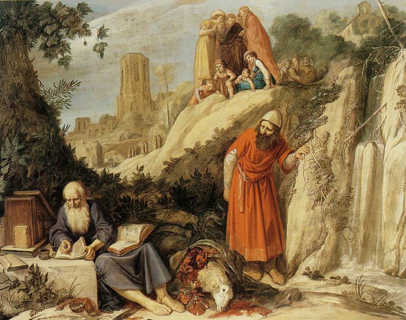 Jan Pynas, Hippocrates bezoekt Democritus in Abdera, 1614