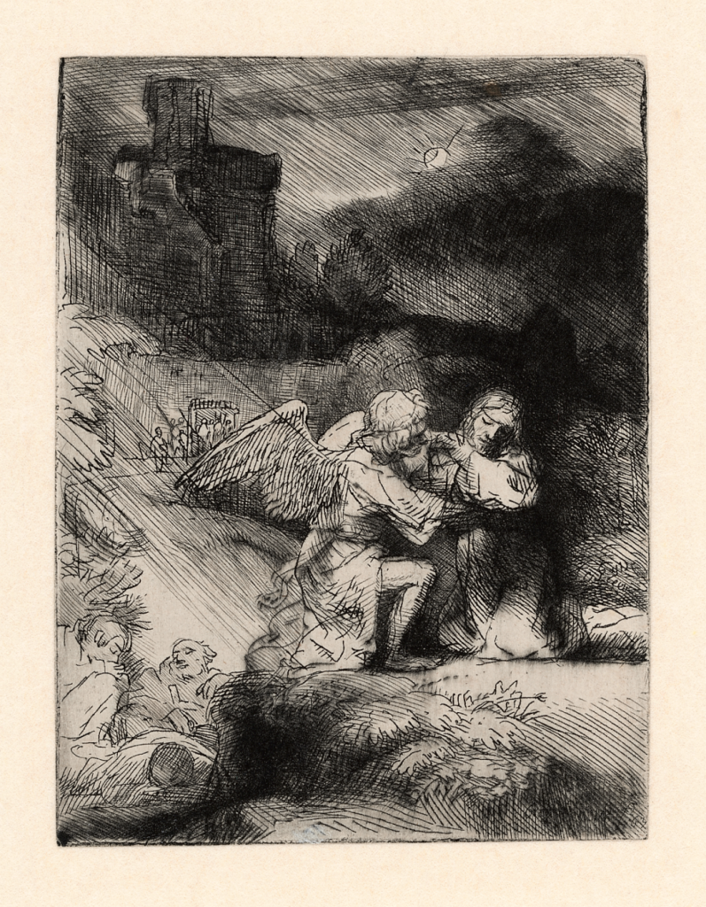 Rembrandt, The agony in the garden, c. 1651-1652