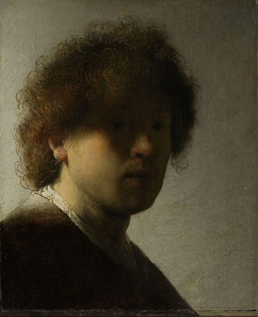 Rembrandt, Zelfportret, 1628. Rijksmuseum, Amsterdam.