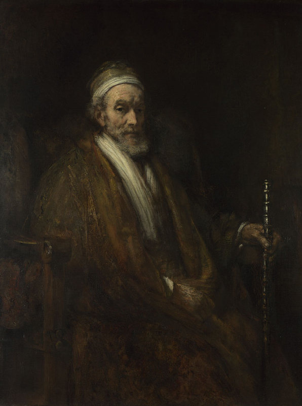Rembrandt, Portret van Jacob Trip, ca. 1661. The National Gallery, Londen