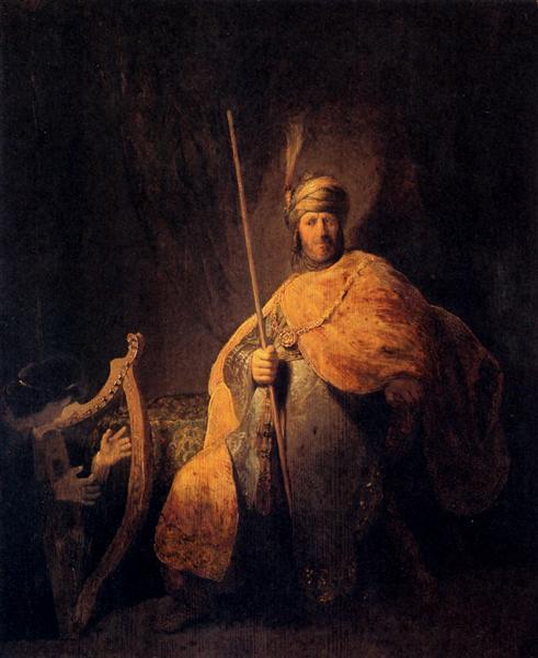 Rembrandt, David speelt voor Saul op de harp, ca. 1630. Städel Museum, Frankfurt am Main.