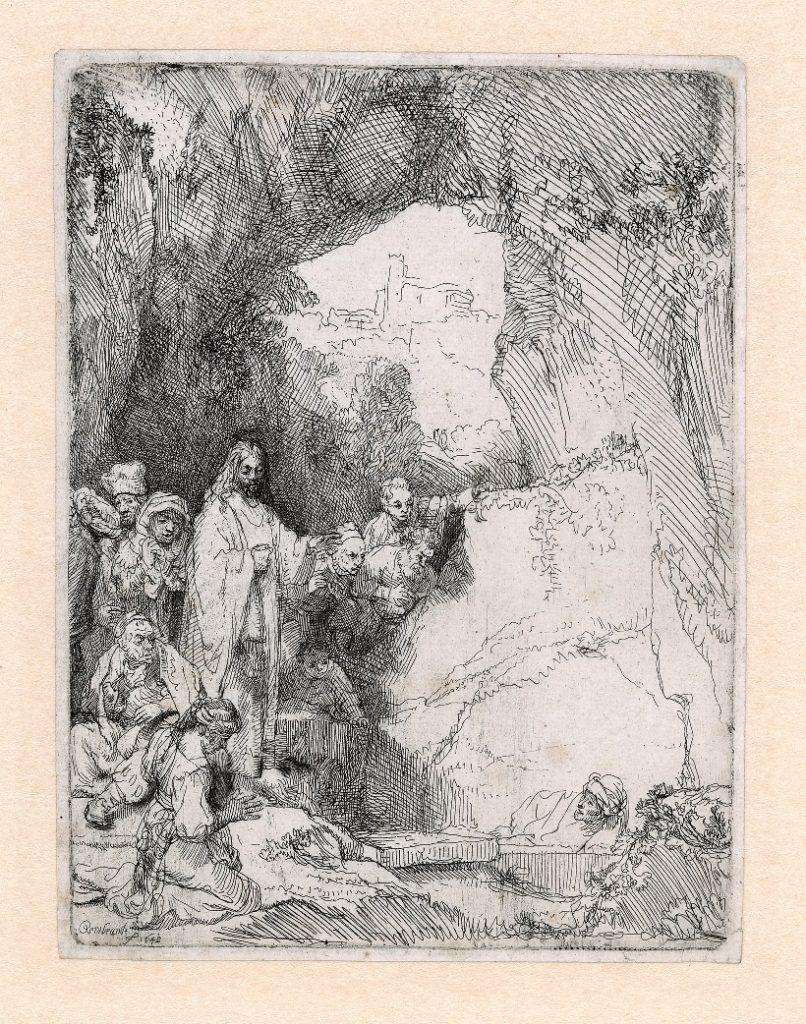 Rembrandt, De opwekking van Lazarus, 1642. Ets, staat I (2), Museum Het Rembrandthuis, Amsterdam