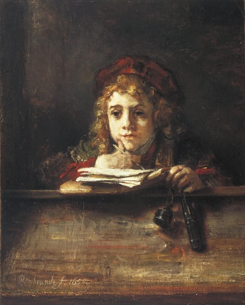Rembrandt, Titus aan de lezenaar, 1655. Museum Boijmans van Beuningen, Rotterdam.
