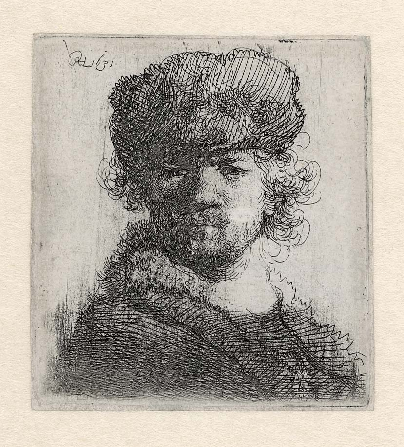 week-37-rembrandt-zelfportret-met-bontmuts-1631-ets-enige-staat-museum-het-rembrandthuis
