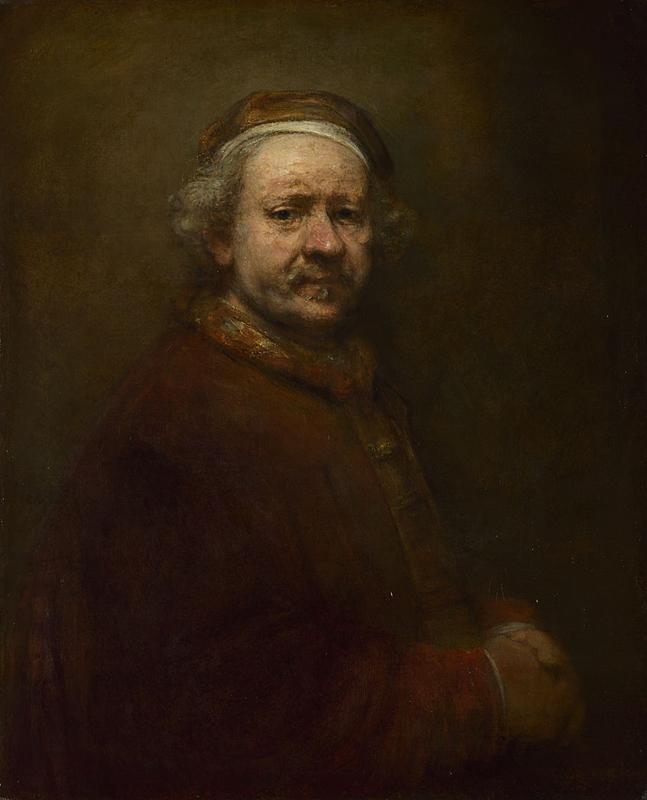 Rembrandt, Zelfportret op 63-jarige leeftijd, 1669. The National Gallery, Londen.