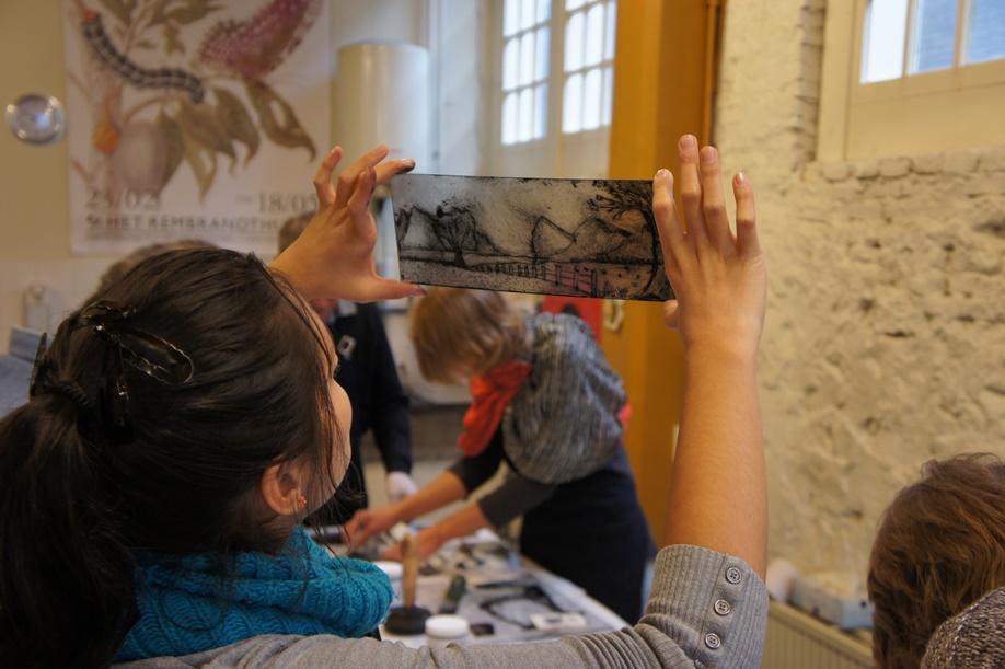 Workshop Experimenteel etsen als Segers. Museum Het Rembrandthuis Amsterdam