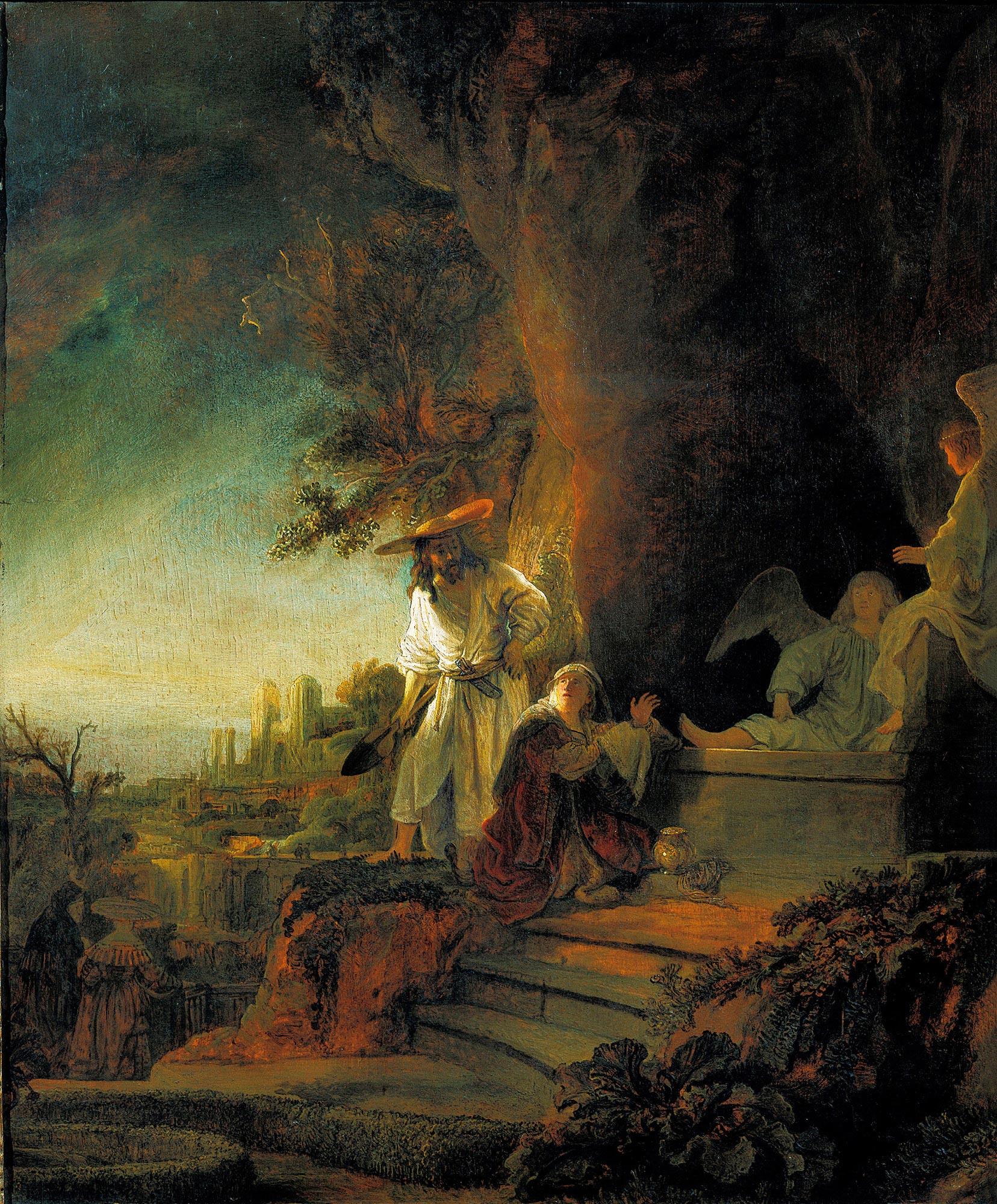 Rembrandt, Christus verschijnt aan Maria Magdalena, 1638. Her Majesty Queen Elizabeth II, The Royal Collection, London