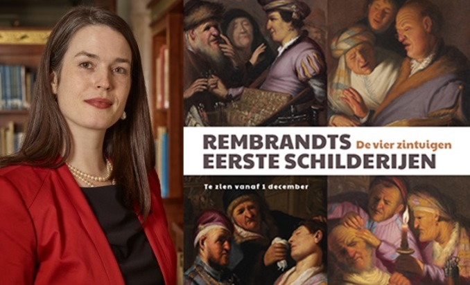Rembrandthuis Café 8 januari 2017 Ilona van Tuinen over Rembrandts vier zintuigen