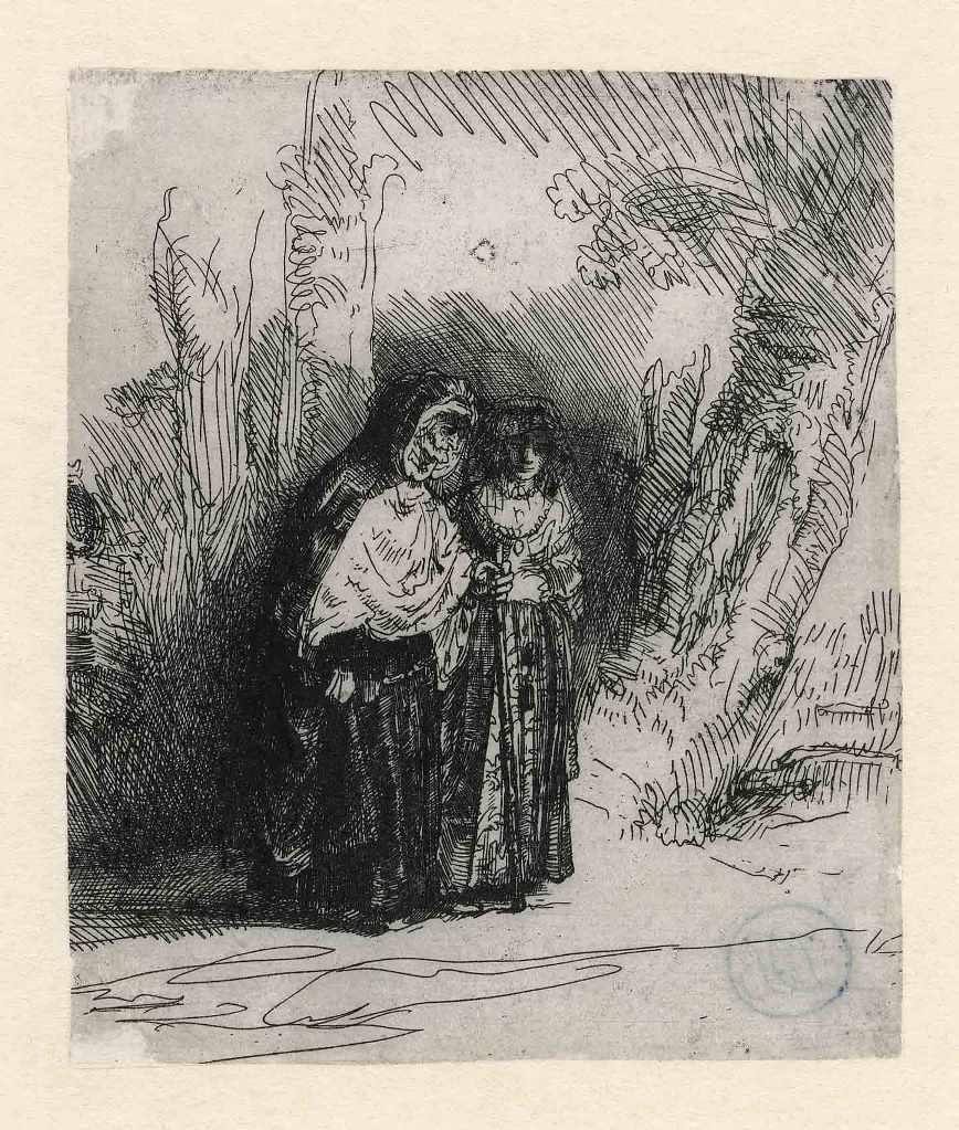 Rembrandt, Preciosa en Majombe, uit ca. 1642. Museum Het Rembrandthuis Amsterdam